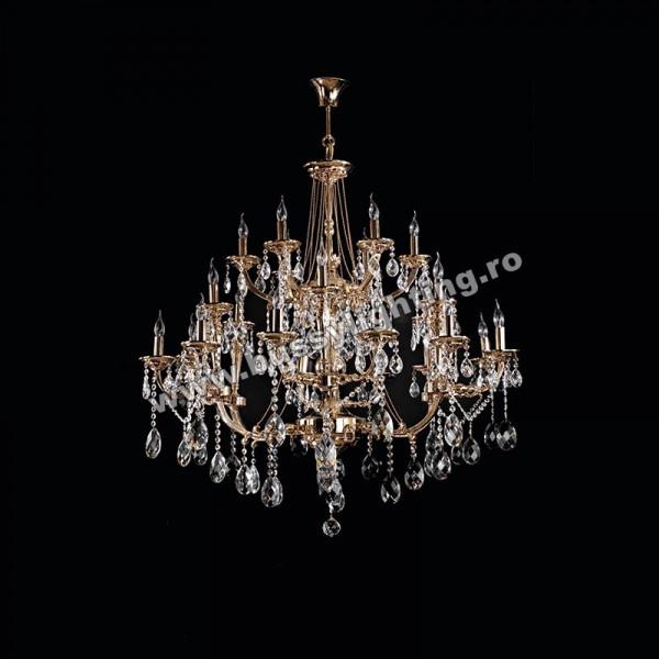 Candelabru Beauty Gold cu 24 brate 6154-58-24